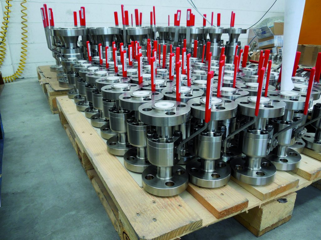 This picture is of several ball valves from ProMetal